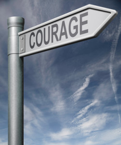courage road sign clipping path